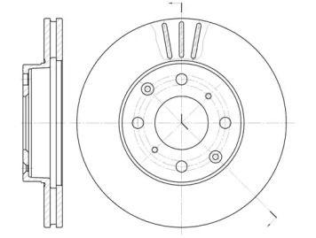 Вентильований передній гальмівний диск 'REMSA 6108.10'.