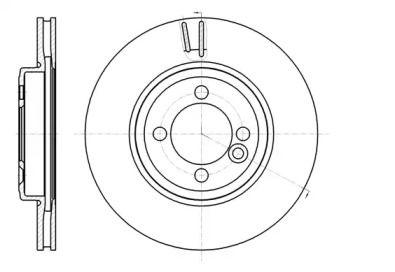 Вентилируемый передний тормозной диск на MINI CLUBVAN 'REMSA 61081.10'.