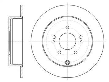 Задний тормозной диск на Пежо 4007 'REMSA 61098.00'.