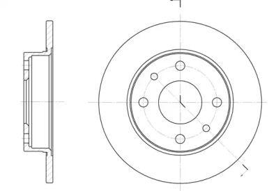 Тормозной диск на Фиат Идеа 'REMSA 6110.00'.