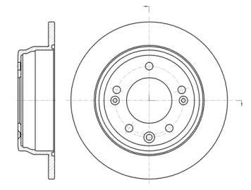 Задний тормозной диск на HYUNDAI I30 'REMSA 61105.00'.
