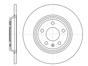 Задний тормозной диск на Ауди Ку5 'REMSA 61112.00'.