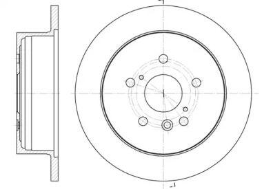Задний тормозной диск на TOYOTA PREVIA 'REMSA 61158.00'.