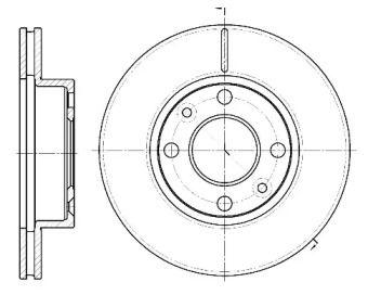 Вентилируемый передний тормозной диск на DACIA SOLENZA 'REMSA 61162.10'.