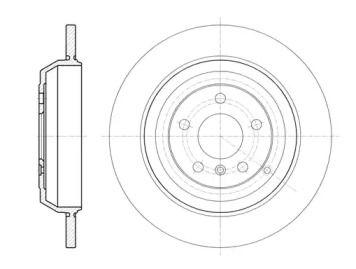 Задний тормозной диск на MERCEDES-BENZ GL-CLASS 'REMSA 61166.00'.