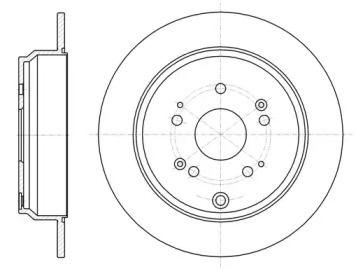 Задний тормозной диск на Акура РДХ 'REMSA 61174.00'.