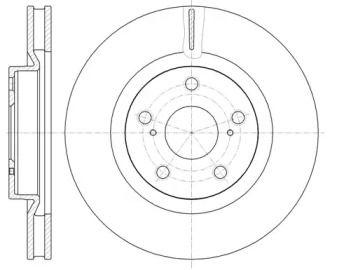Вентилируемый передний тормозной диск на GEELY EMGRAND EC8 'REMSA 61189.10'.