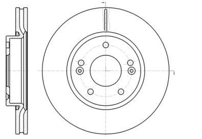 Вентилируемый передний тормозной диск на Киа Церато Куп 'REMSA 61208.10'.