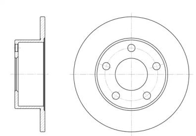 Задний тормозной диск на Ауди 100 'REMSA 6123.00'.