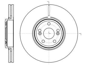 Вентилируемый передний тормозной диск на RENAULT VEL SATIS 'REMSA 61234.10'.