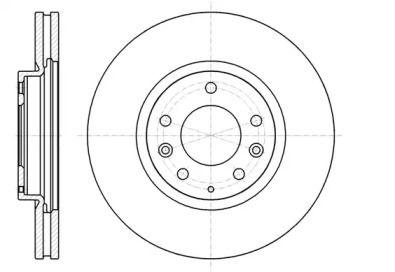 Вентильований передній гальмівний диск на Мазда СХ7 REMSA 61236.10.