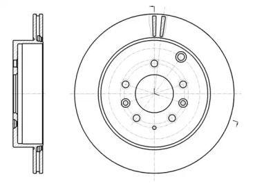Вентильований задній гальмівний диск на MAZDA CX-7 REMSA 61237.10.