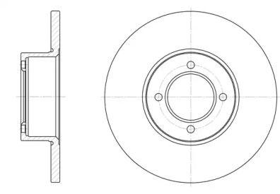 Передний тормозной диск на Опель Рекорд 'REMSA 6127.00'.