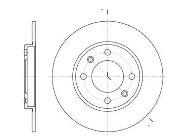 Задний тормозной диск на Ситроен Ксара 'REMSA 6128.00'.