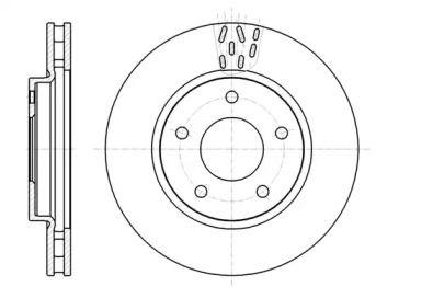 Вентилируемый передний тормозной диск на DODGE CALIBER 'REMSA 61291.10'.
