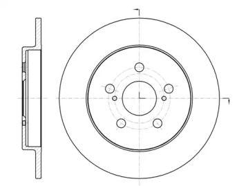 Задний тормозной диск на TOYOTA VERSO 'REMSA 61326.00'.