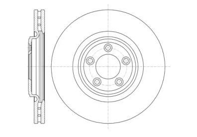 Вентилируемый передний тормозной диск на Ягуар ХК 'REMSA 61374.10'.