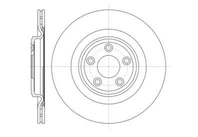 Вентилируемый задний тормозной диск на Ягуар ХК 'REMSA 61375.10'.
