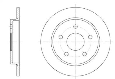 Задний тормозной диск на FORD SCORPIO 'REMSA 6147.00'.