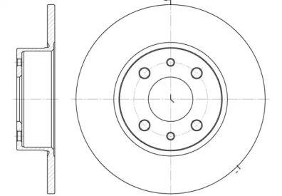 Задний тормозной диск на FIAT LINEA 'REMSA 6150.00'.