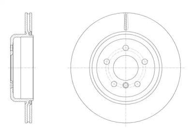 Вентилируемый задний тормозной диск REMSA 61550.10.