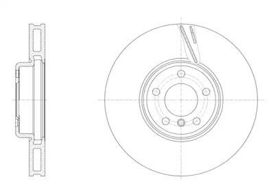 Вентилируемый передний тормозной диск REMSA 61552.11.