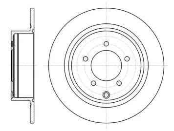 Задний тормозной диск на MITSUBISHI ASX 'REMSA 61554.00'.