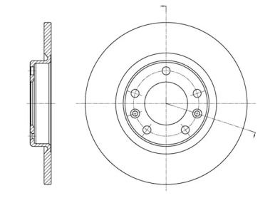 Задний тормозной диск на PEUGEOT 308 'REMSA 61555.00'.