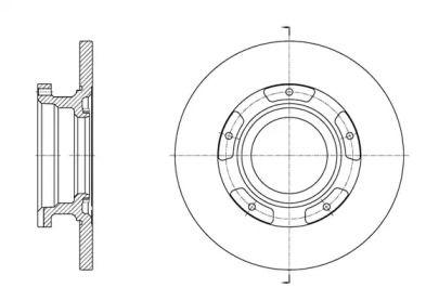 Задний тормозной диск на Форд Турнео Кастом 'REMSA 61564.00'.