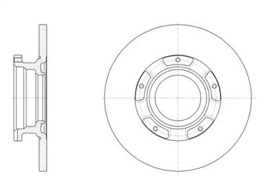 Задний тормозной диск на Форд Турнео Кастом 'REMSA 61566.00'.