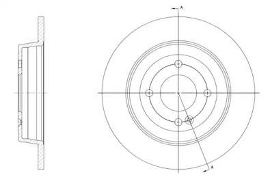 Задний тормозной диск на HYUNDAI VERNA 'REMSA 61570.00'.