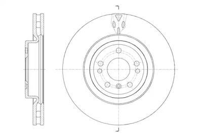Вентилируемый передний тормозной диск на MERCEDES-BENZ GLE 'REMSA 61576.10'.