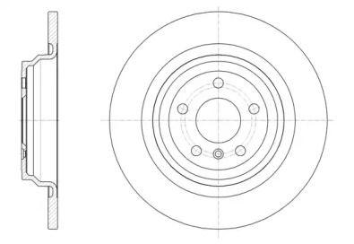 Задний тормозной диск на Мерседес Гле 'REMSA 61577.00'.