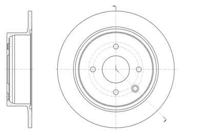 Задний тормозной диск на Ниссан Куб 'REMSA 61579.00'.