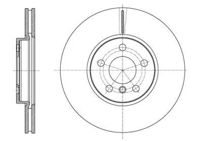 Вентилируемый передний тормозной диск REMSA 61596.10.
