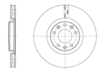 Вентилируемый передний тормозной диск на PEUGEOT RCZ 'REMSA 61628.10'.