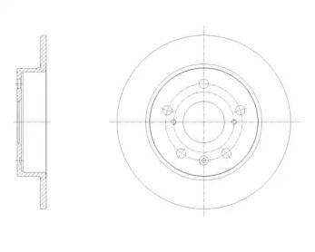 Задний тормозной диск на Сузуки СХ4 'REMSA 61666.00'.