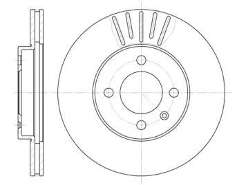 Вентилируемый передний тормозной диск на SEAT INCA 'REMSA 6175.10'.