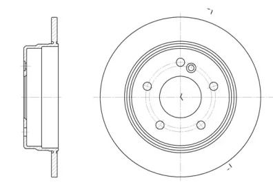 Задний тормозной диск на MERCEDES-BENZ C-CLASS 'REMSA 6193.00'.