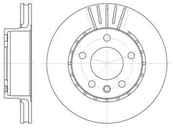 Вентилируемый передний тормозной диск на Опель Сенатор 'REMSA 6202.10'.