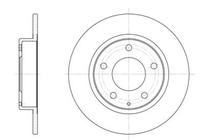 Задний тормозной диск на Мазда Кседос 6 'REMSA 6206.00'.