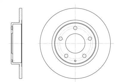 Задний тормозной диск на FORD PROBE 'REMSA 6206.00'.