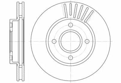 Вентилируемый передний тормозной диск на FORD COUGAR REMSA 6211.10.