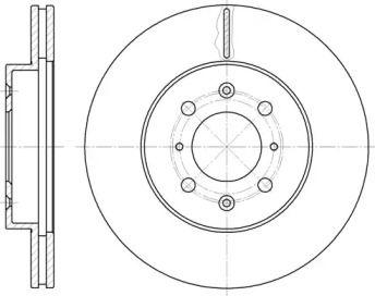Вентилируемый передний тормозной диск на ROVER COUPE 'REMSA 6224.10'.