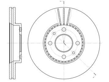 Вентилируемый передний тормозной диск на Рено Сценик 'REMSA 6227.10'.