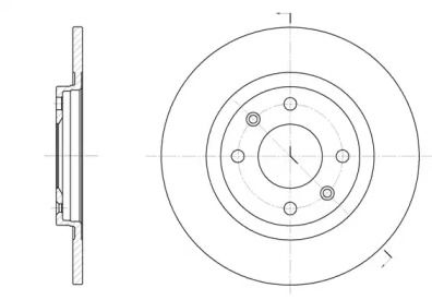 Передний тормозной диск на Ситроен БХ 'REMSA 6241.01'.
