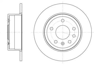 Задний тормозной диск на OPEL SENATOR 'REMSA 6249.00'.
