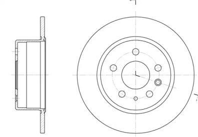 Задний тормозной диск на MERCEDES-BENZ SL 'REMSA 6280.00'.