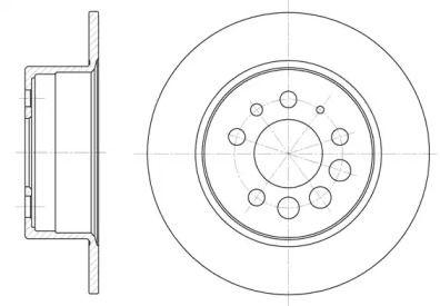 Задний тормозной диск на Вольво 240 'REMSA 6283.00'.