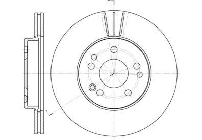 Вентилируемый передний тормозной диск на MERCEDES-BENZ SL REMSA 6314.10.